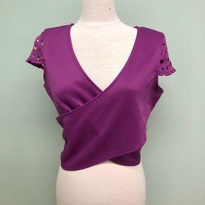 Bongo | Women's Cropped Wrap T-Shirt | Juniors